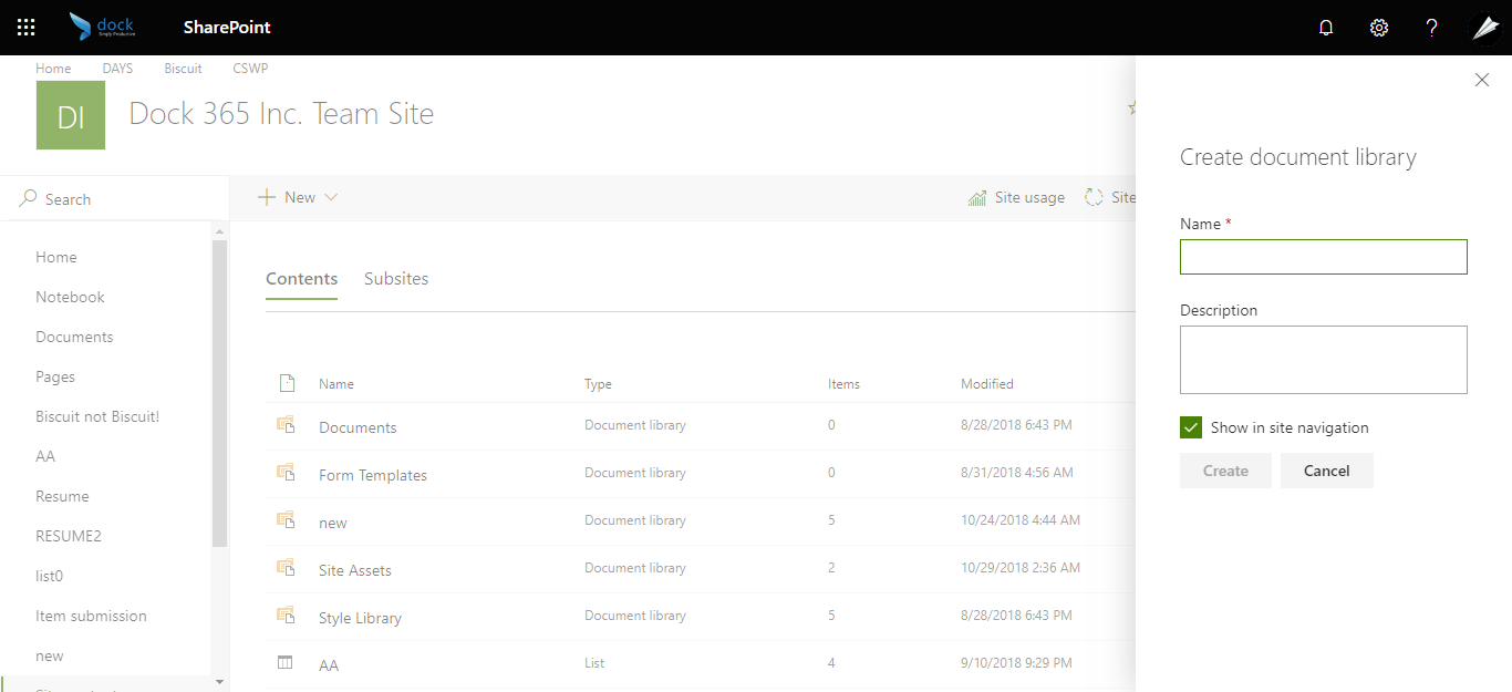How to Create A Document Library in SharePoint