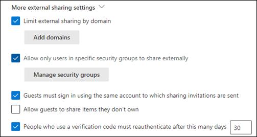 External Sharing Setting of SharePoint - Dock 365 Blog