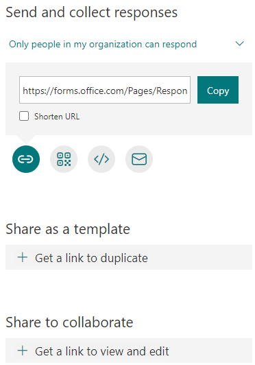 MS Forms demo blog share shortcut
