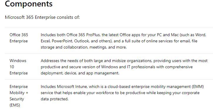 Microsoft 365 Enterprise overview   Microsoft Docs