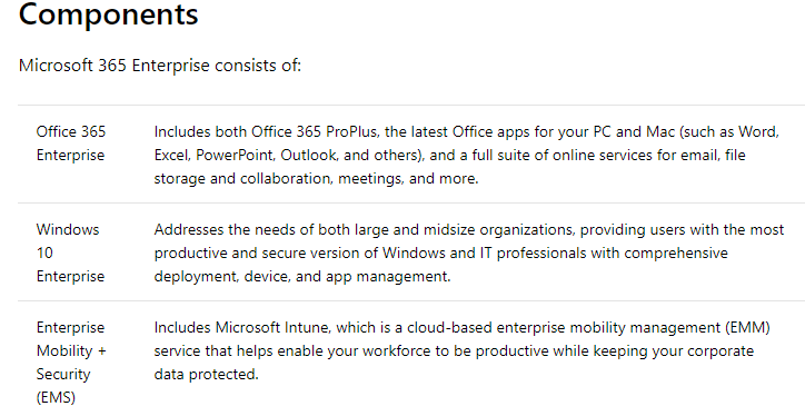Microsoft 365 Enterprise overview   Microsoft Docs
