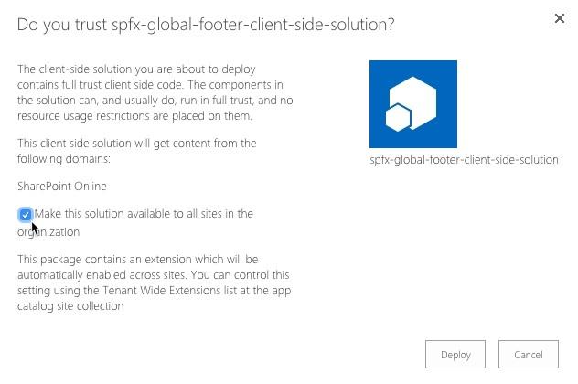 Microsoft Framework deploy