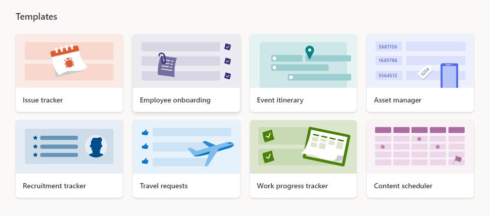 Microsoft Lists templates