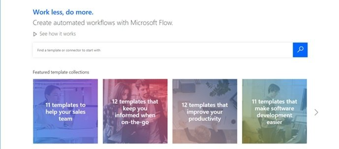 Microsoft_Flow_Home_Screen