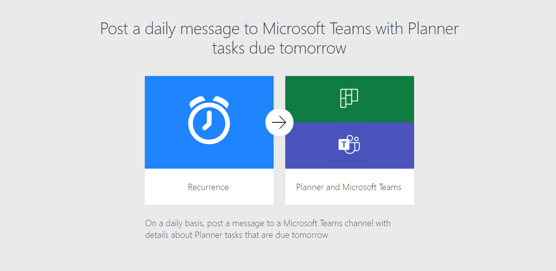 Post a daily message to Microsoft Teams with Planner tasks due tomorrow