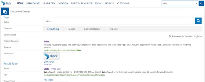 SharePoint_Enterprise_Search_Dock