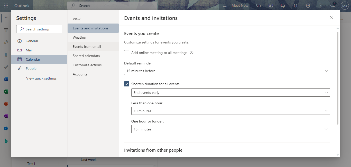 Shorten duration for all meetings