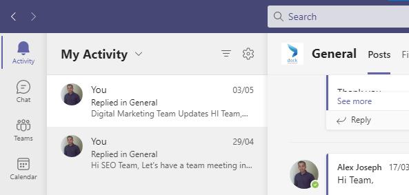 activity - feed - my activity