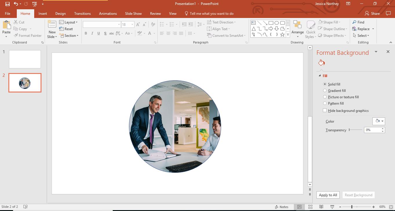 PowerPoint creative shape