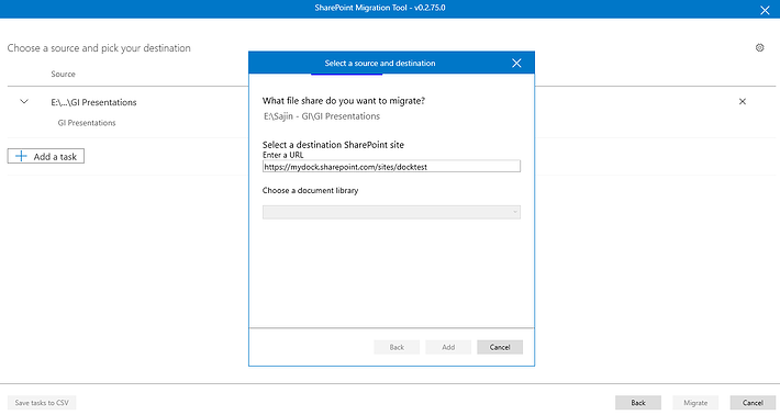 Setting up Migration Task in the Free Migration Tool by Microsoft.png
