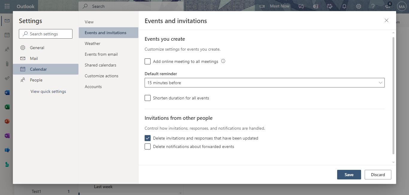 calendar - events and invitations