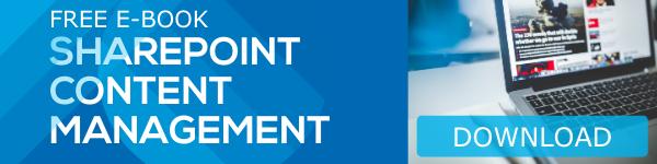Ebook CTA SharePoint Content Management