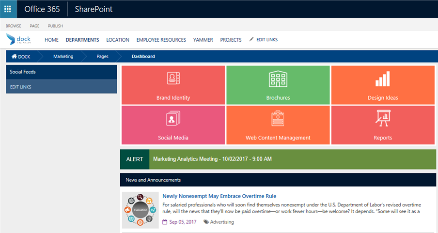 Six Benefits of SharePoint Intranet Portal for Marketing Teams