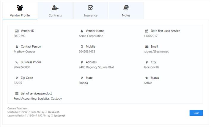 Build your Vendor Management Portal in SharePoint