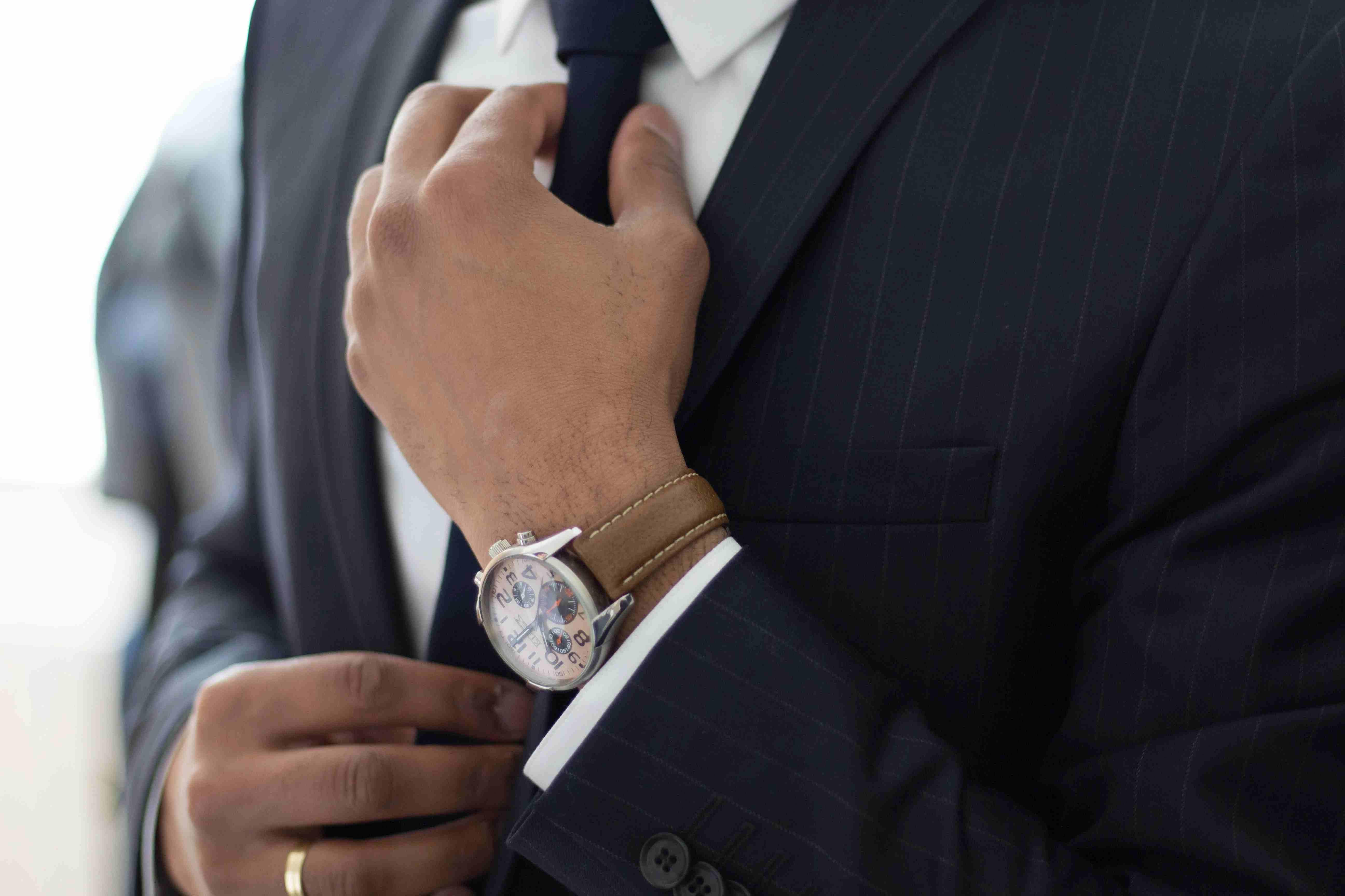 Businessperson in suit.