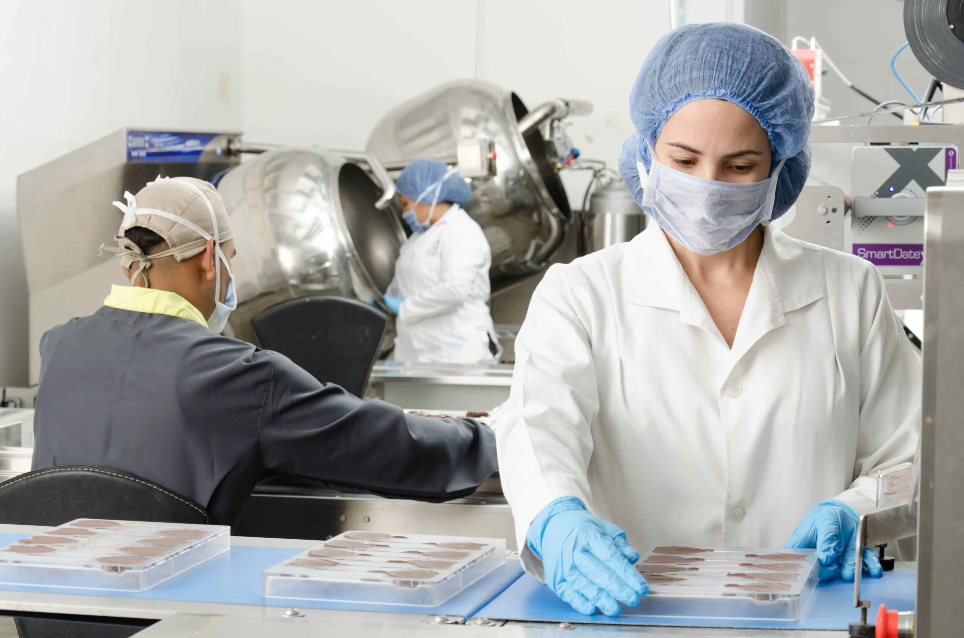 Healthcare workers working in a lab.